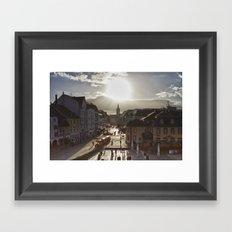 Basking in the Winter Sun Framed Art Print