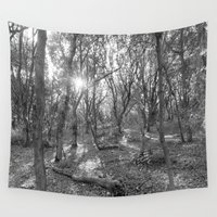 woodland Wall Tapestries featuring Woodland by Stirland Photography