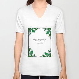 Brews & Hues: a Quote from Oscar Wilde (Portrait) Unisex V-Neck