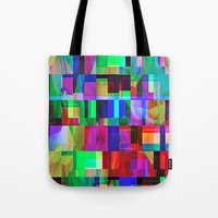 glitch Tote Bags featuring GLITCH by C O R N E L L