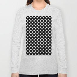 Black and White Polka Dot Pattern Long Sleeve T-shirt