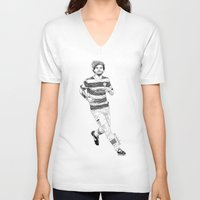 football V-neck T-shirts featuring football by otp-hedgefrog