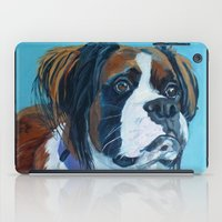 nori iPad Cases featuring Nori the Therapy Boxer by Barking Dog Creations Studio