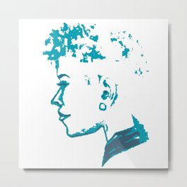 Peaceful face Metal Print