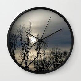 Autumn Skies Wall Clock