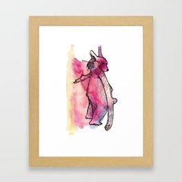 Weird Bear Framed Art Print