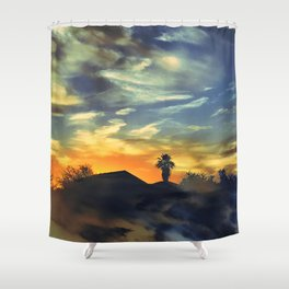 AZ Sunset Shower Curtain