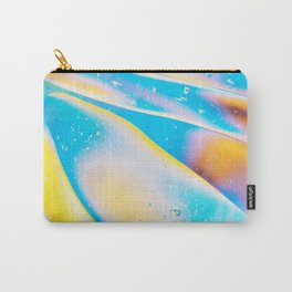 Yellow Blue Viscous Liquid Carry-All Pouch