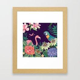 Botanical Zoo Garden Framed Art Print