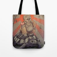 buddah Tote Bags featuring Buddah by BBarends