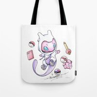 projectrocket Tote Bags featuring Pokéssentials by Randy C
