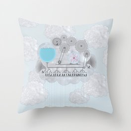 Cross-Section of a Cloud Throw Pillow