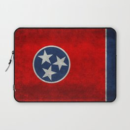Flag of Tennessee - Vintage grungy style Laptop Sleeve