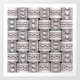 Zentangle®-Inspired Art - ZIA 48 Art Print