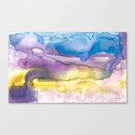 Cloudscape #2 Violine Canvas Print
