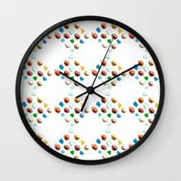 Sea Glass and Sea Shells Wall Clock