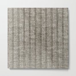 Soft Brown Jersey Knit Pattern Metal Print