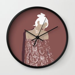 Lady amaranto Wall Clock