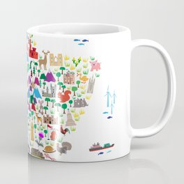 Animal Map of Scotland for children and kids Coffee Mug