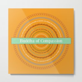 Buddha of Compassion Metal Print