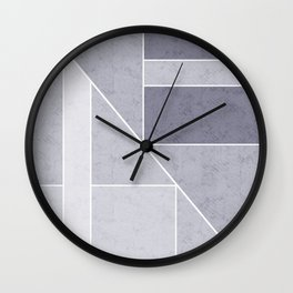 Simple geometric pattern. 3 Wall Clock