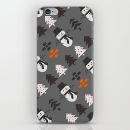 Snowmen and trees iPhone Skin