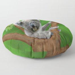 Blue-eyed Baby Koala Bear Floor Pillow
