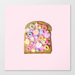 Pink Sugar Toast Canvas Print