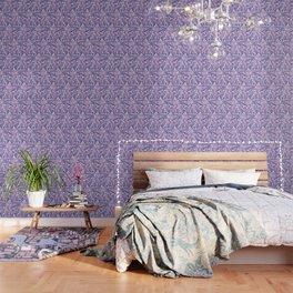 Tropical Daydream Blue Blush Wallpaper