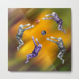 Abstract ball fight Metal Print