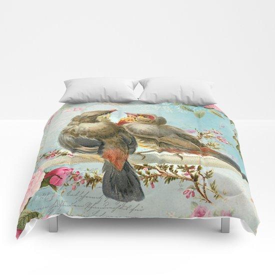 Vintage Birds #2 Comforters