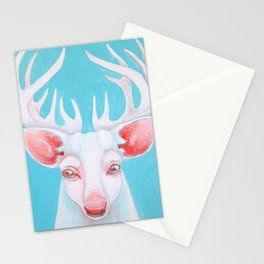Portrait of a White Stag Stationery Cards