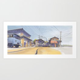 Enoden sketch Art Print