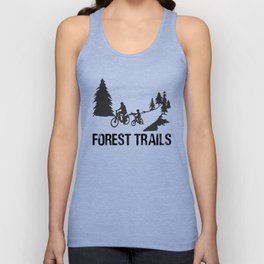 Forest Trails bw Unisex Tank Top