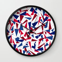 Hillary 2016: Break the Glass Ceiling!  (clear background version) Wall Clock