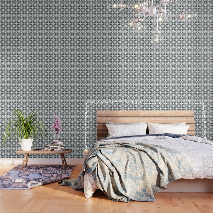 grey basket weave Wallpaper