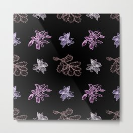 Quercus (black, purple) Metal Print