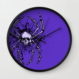 Web and Bone Wall Clock