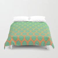yoga Duvet Covers featuring Yoga by Tinyghost