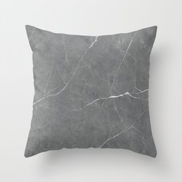 Stone Gray Marble Throw Pillow
