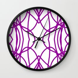 Purple Scribble Wall Clock