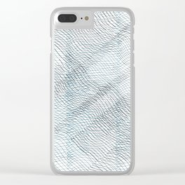 Scribbles lines - dark blue Clear iPhone Case