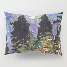 Campfire Under a Full Moon Pillow Sham