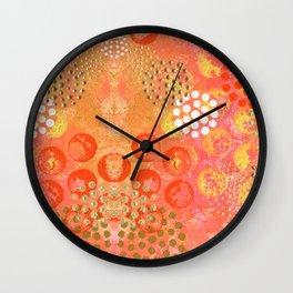 Orange Fizz Wall Clock