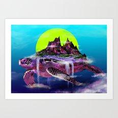 Turtle Paradise Art Print