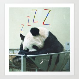 Sleepy Panda Art Print
