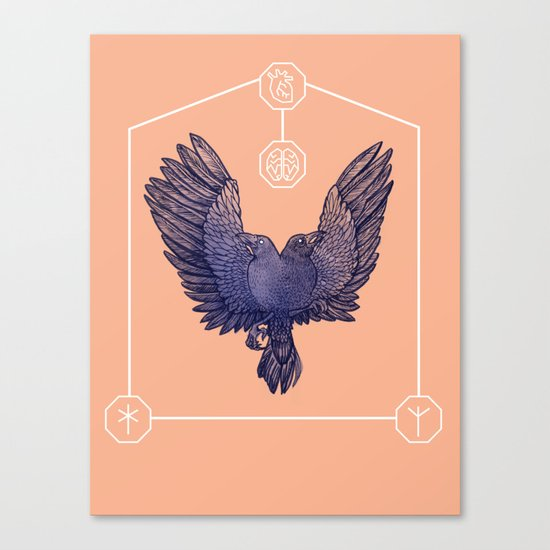 Hugin & Munin Canvas Print