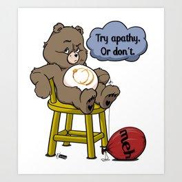 Apathy Bear Art Print