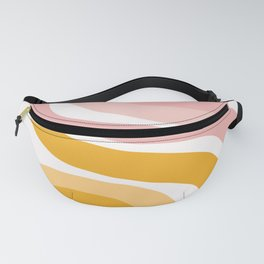 Abstract Shapes 41 in Mustard Yellow and Pale Pink Fanny Pack