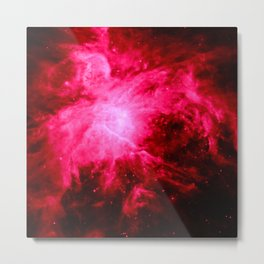 Deep Pink / Red Orion Nebula Metal Print